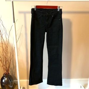 AE Worn Once Jet Black Skinny Kicks Size 0 Short